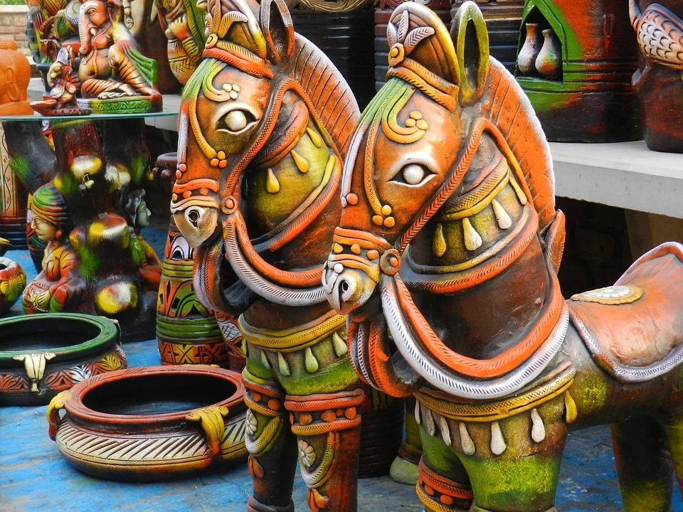 terracotta sculpture color decorative