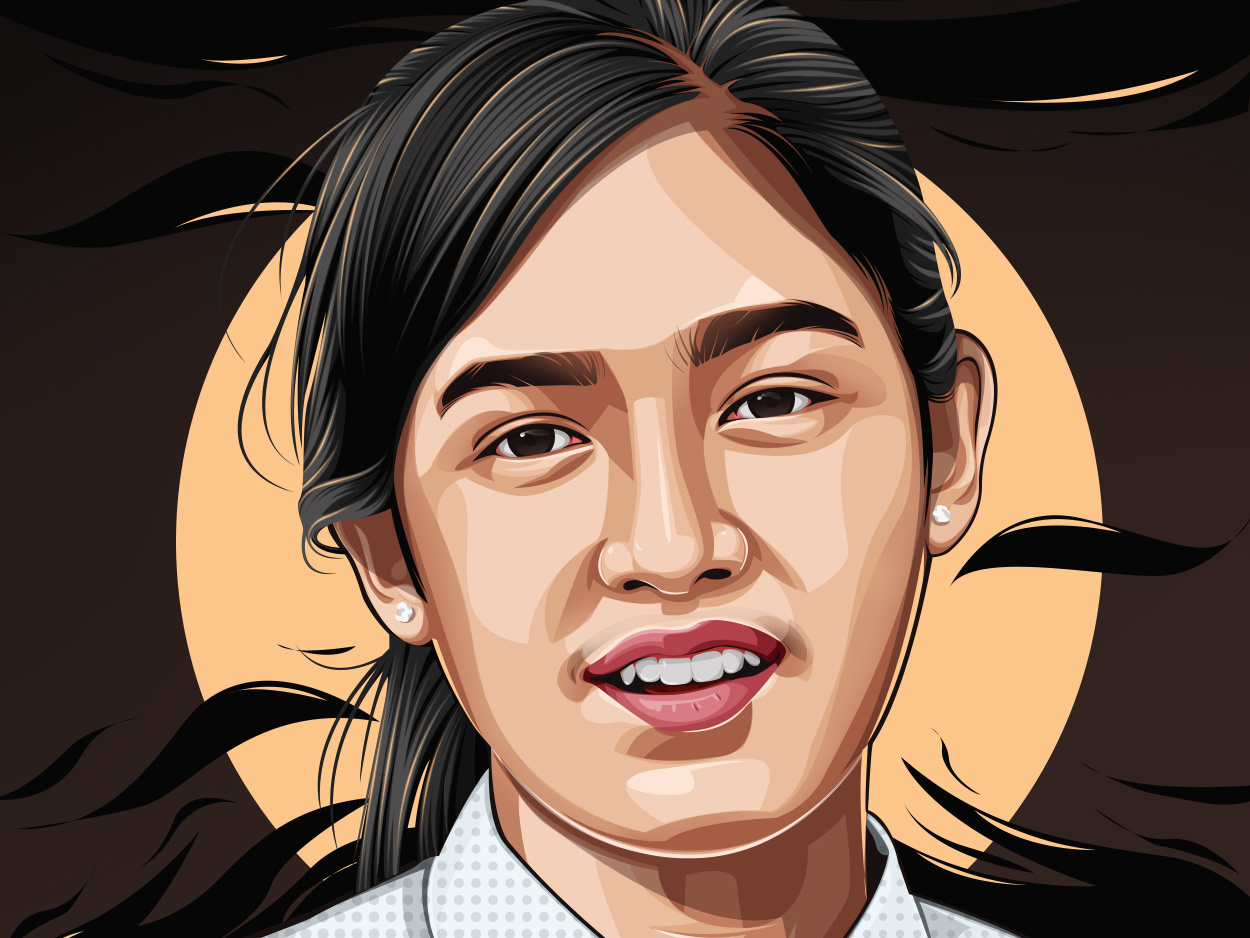 vexel art portrait vector illustration athlete by muhammad lhalhag nur