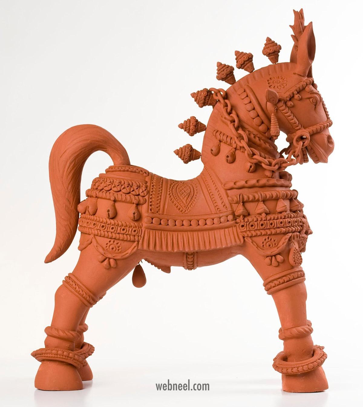 terracotta sculpture horse