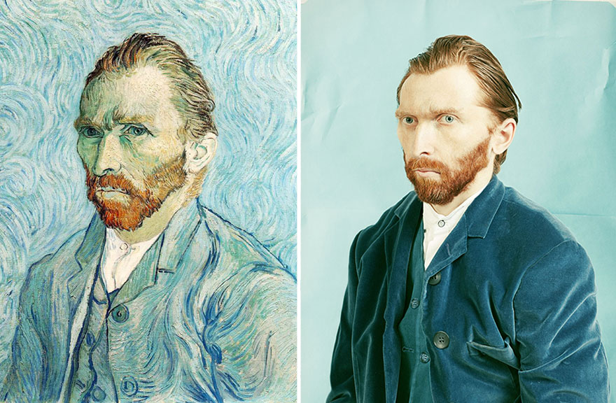 photo remakes painting reenactment painting funny