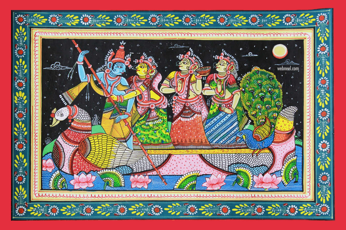 pattachitra painting radha krishna