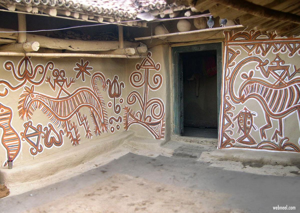 sohrai painting tribal art jharkhand