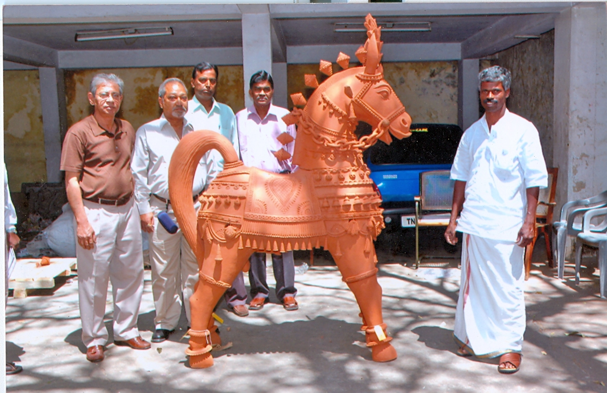 terracotta sculpture horse
