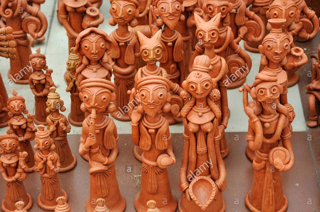 terracotta art sculpture statue kolkata india