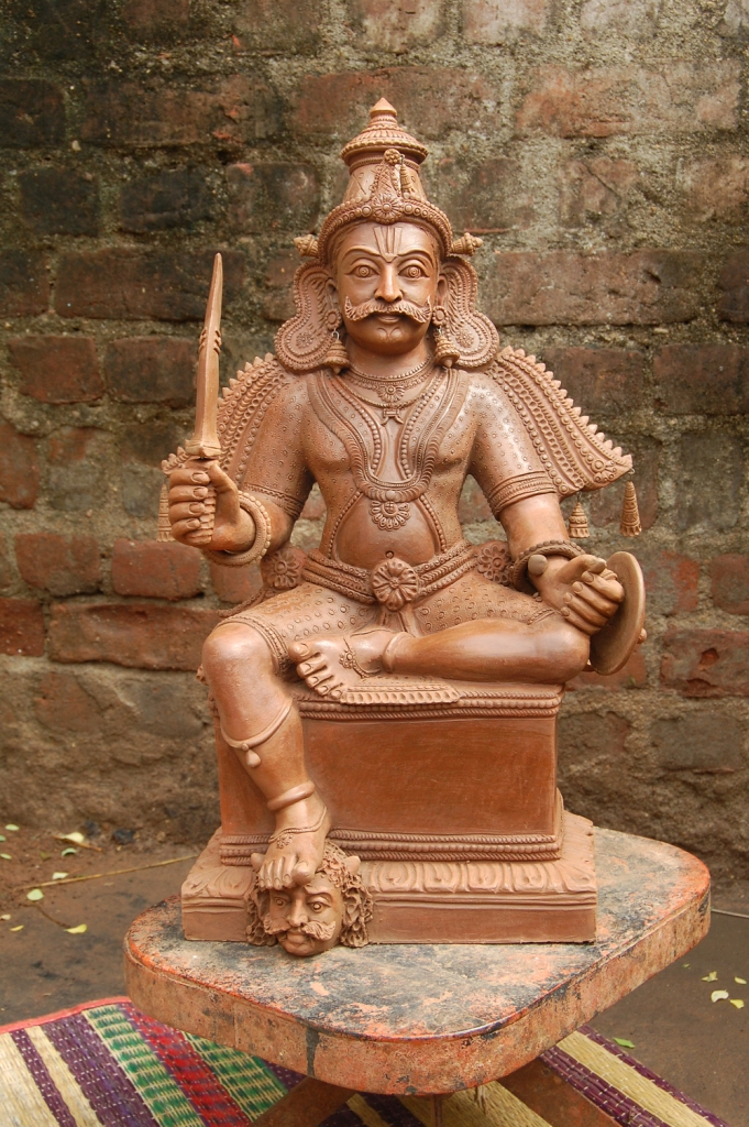 terracotta sculpture god