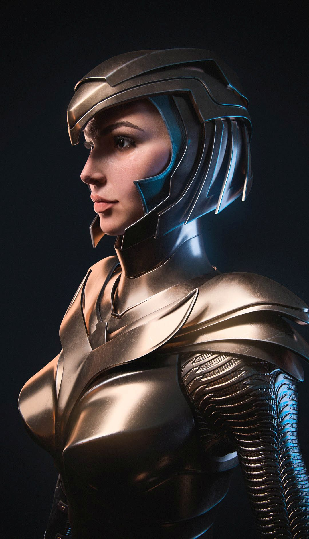3d model wonder woman golden