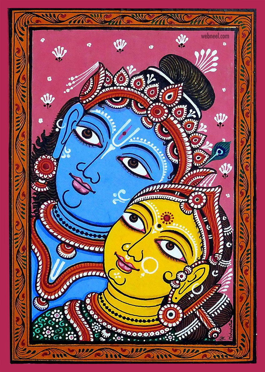 pattachitra painting krishna radha