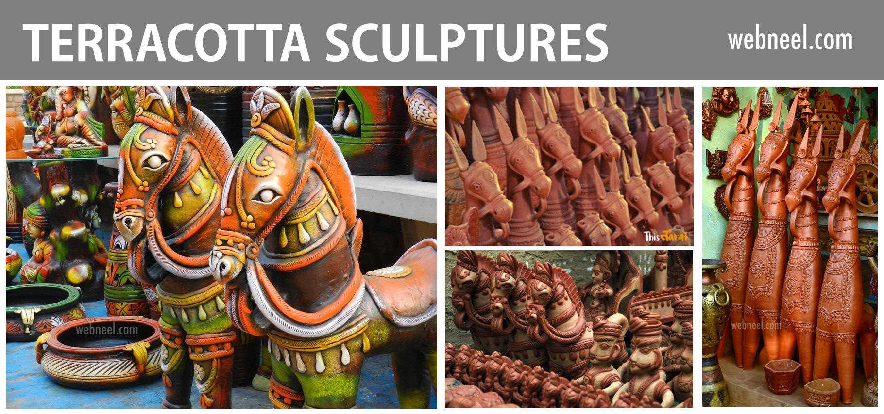 terracotta sculptures horse india