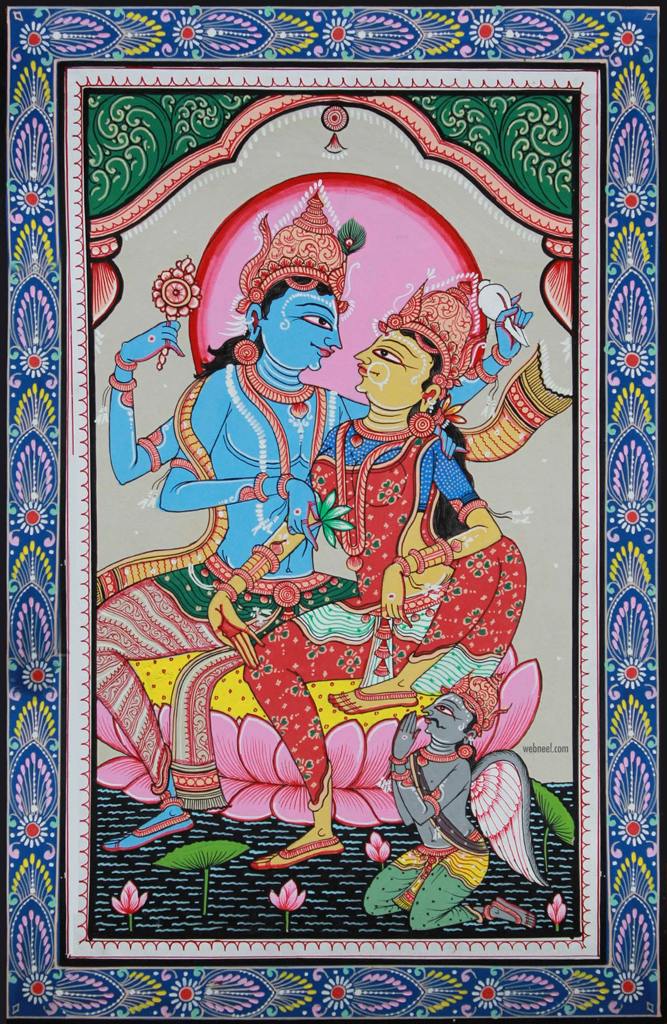 pattachitra painting laxmi narayan