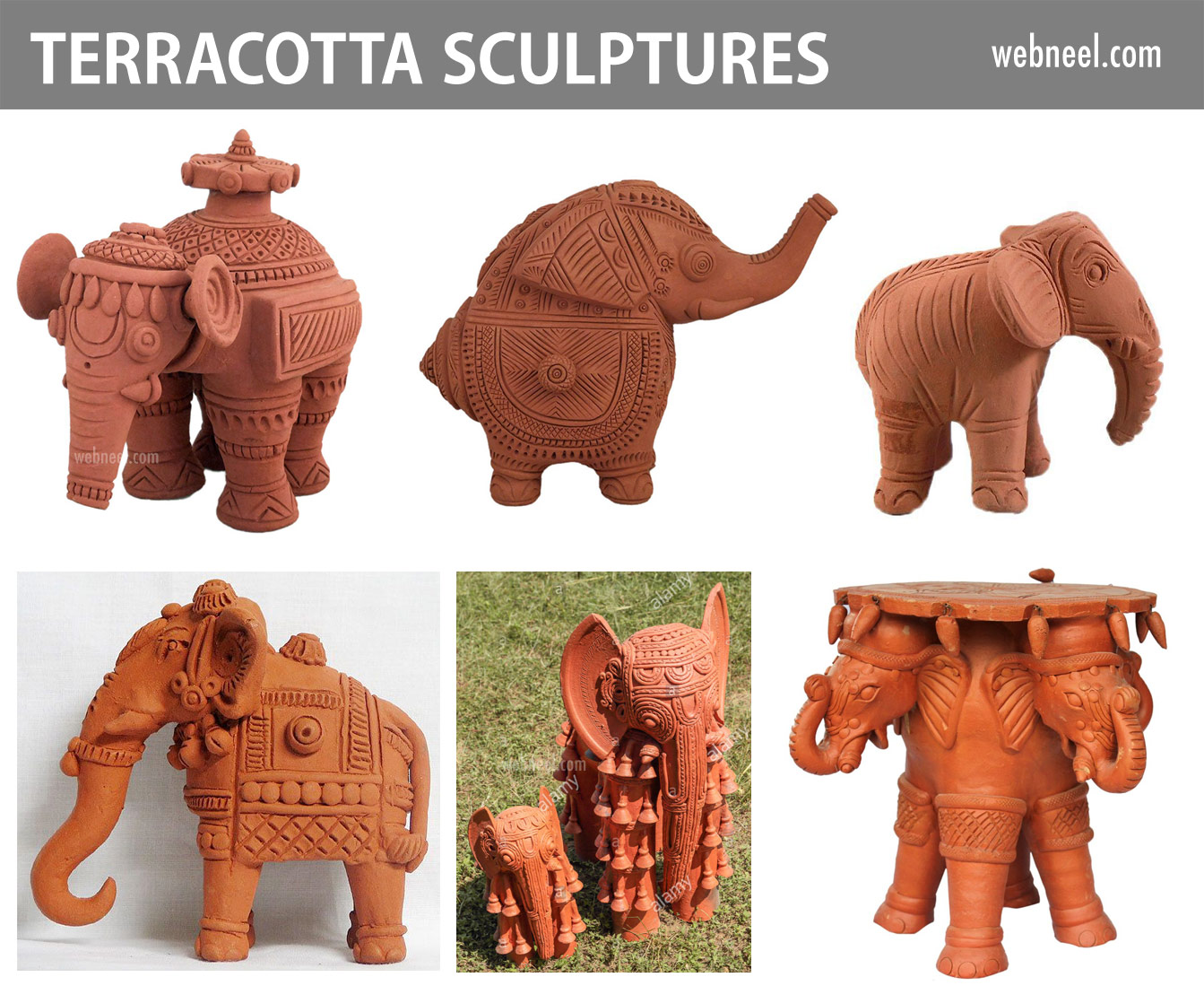 terracotta sculpture elephant india