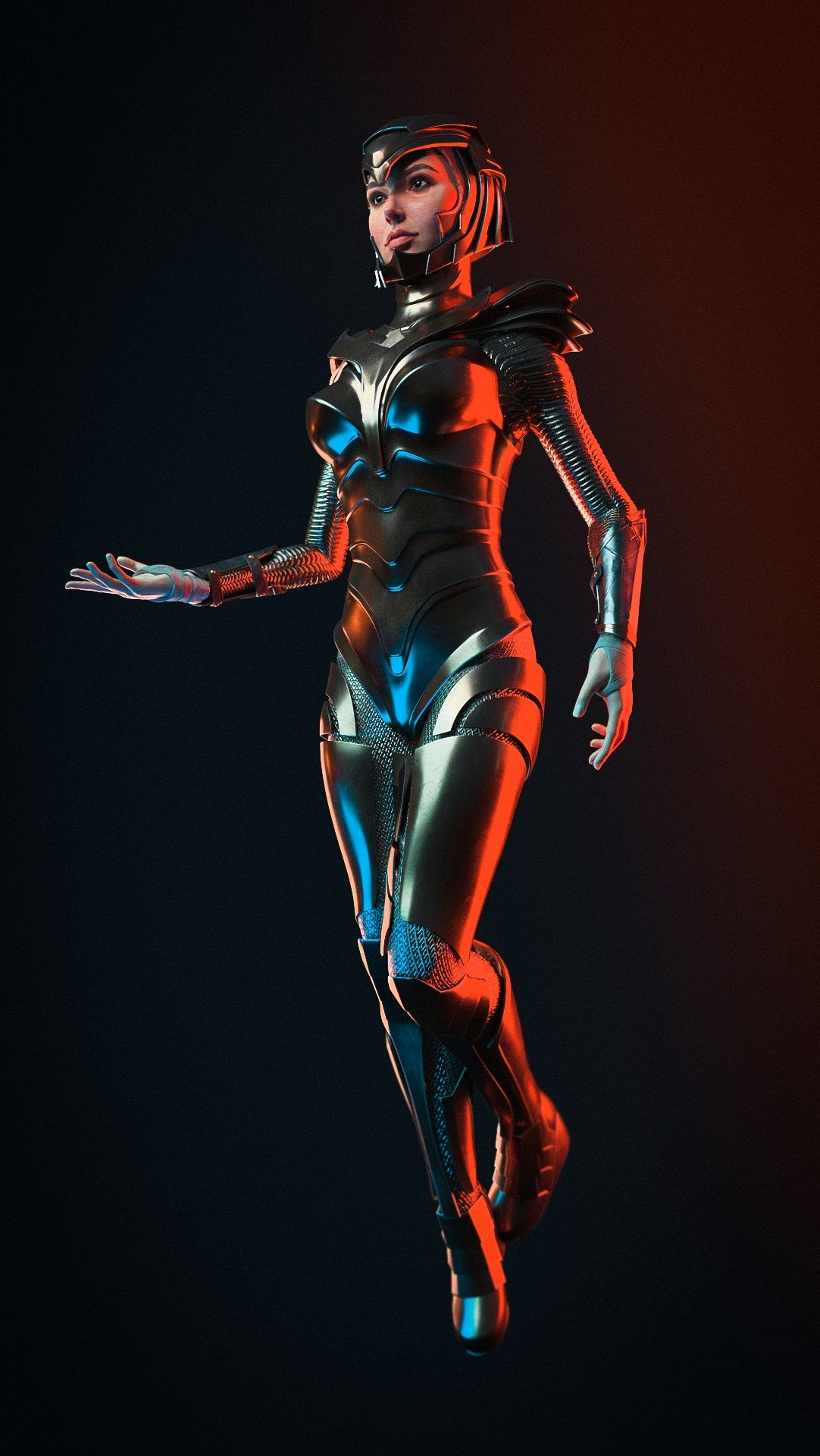 3d models wonder woman golden girl