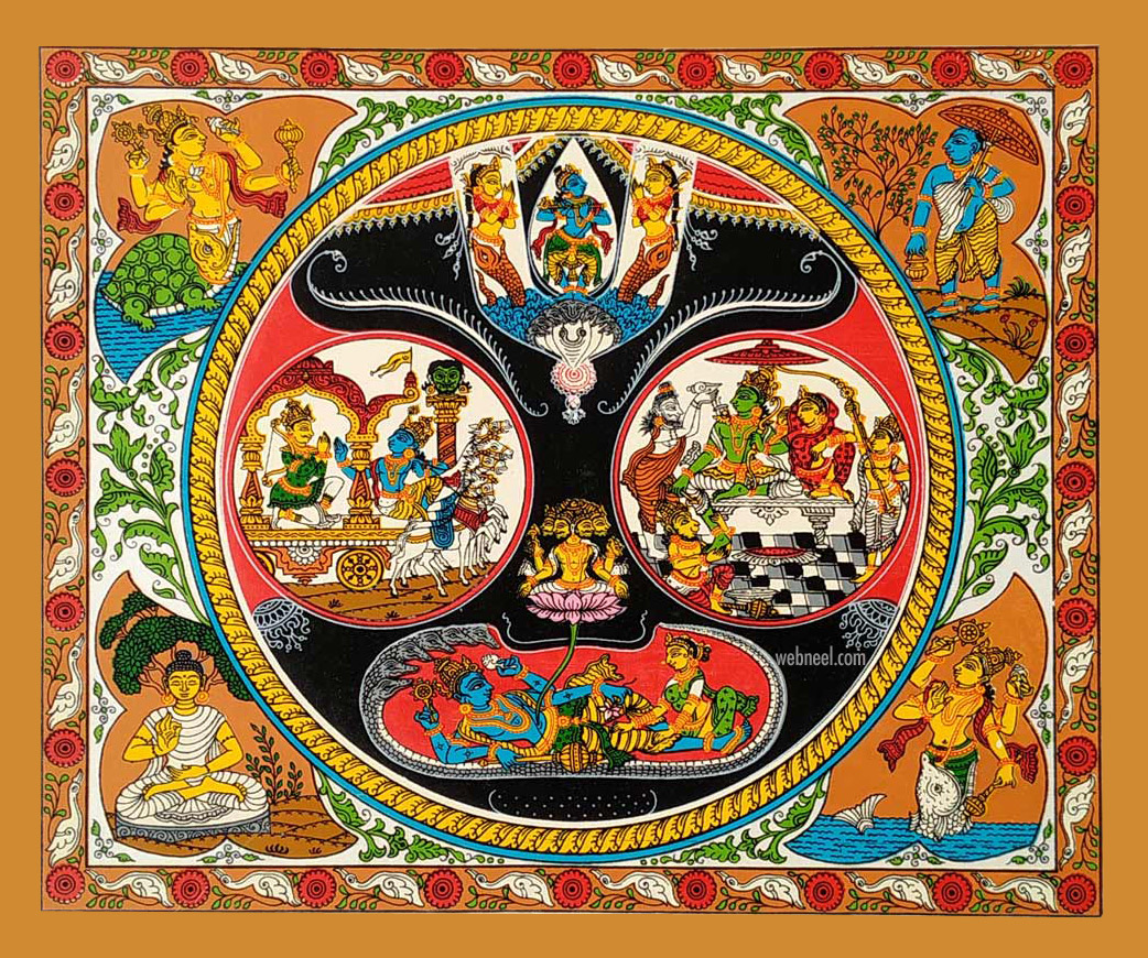 pattachitra painting jagannath eye