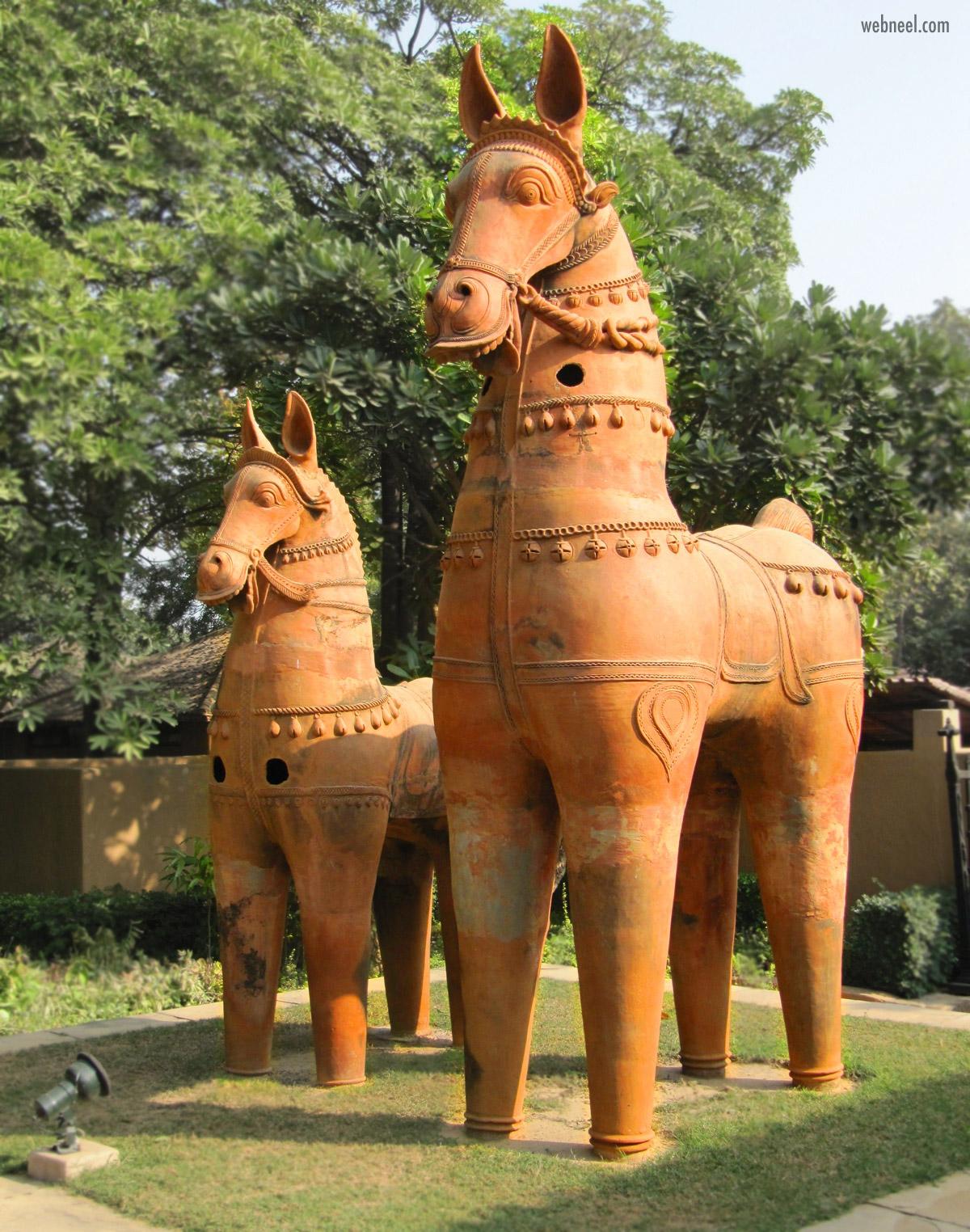 terracotta sculpture horse big outdoor