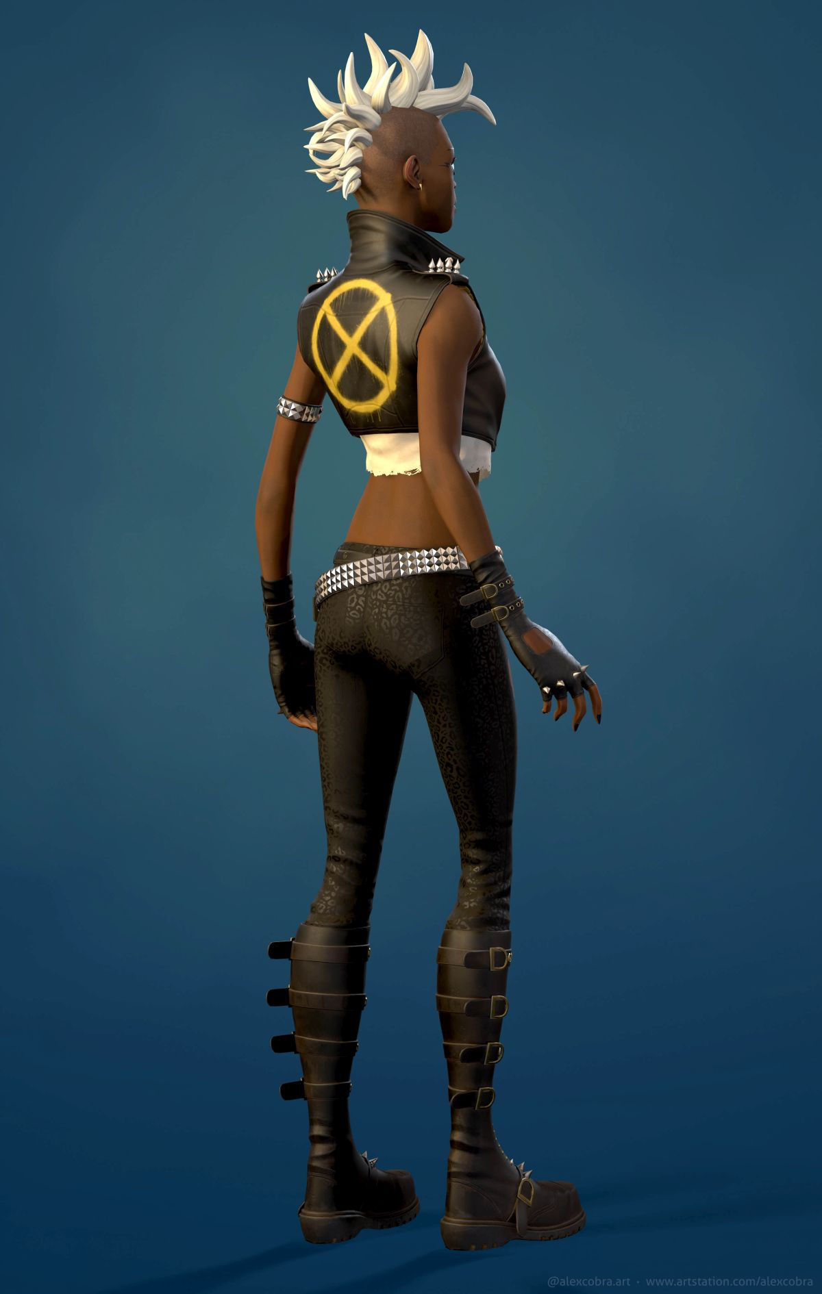 3d model back pose young storm