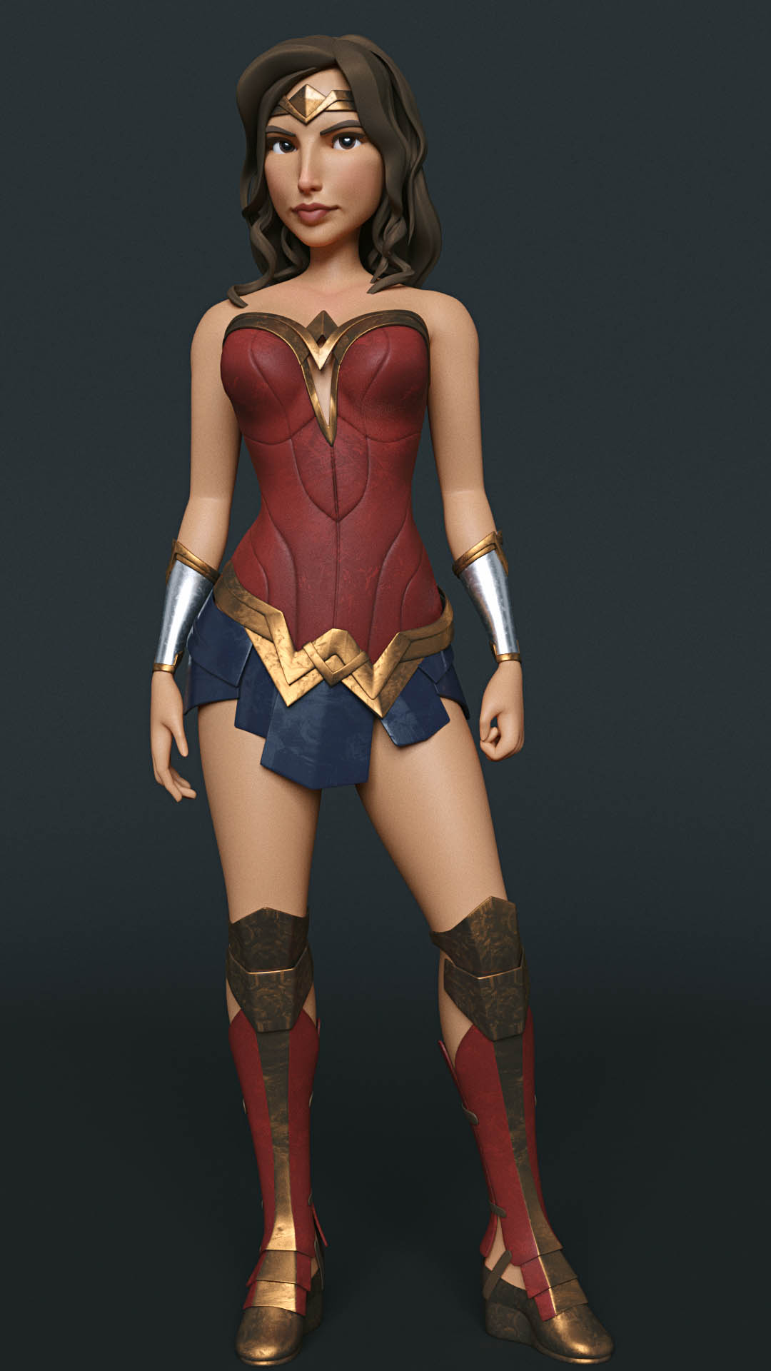 3d model wonder woman full