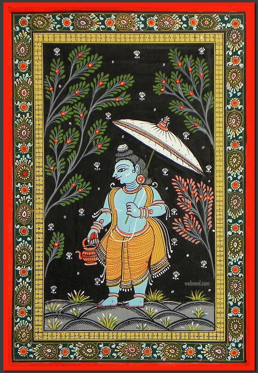 pattachitra painting vamana avatar