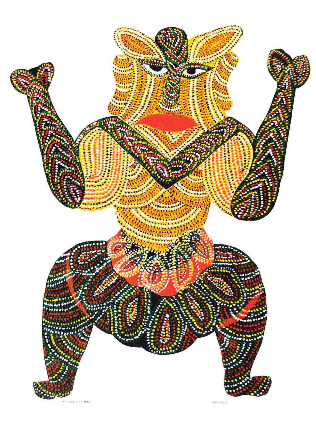 incredible madhya pradesh painting gondi goddess
