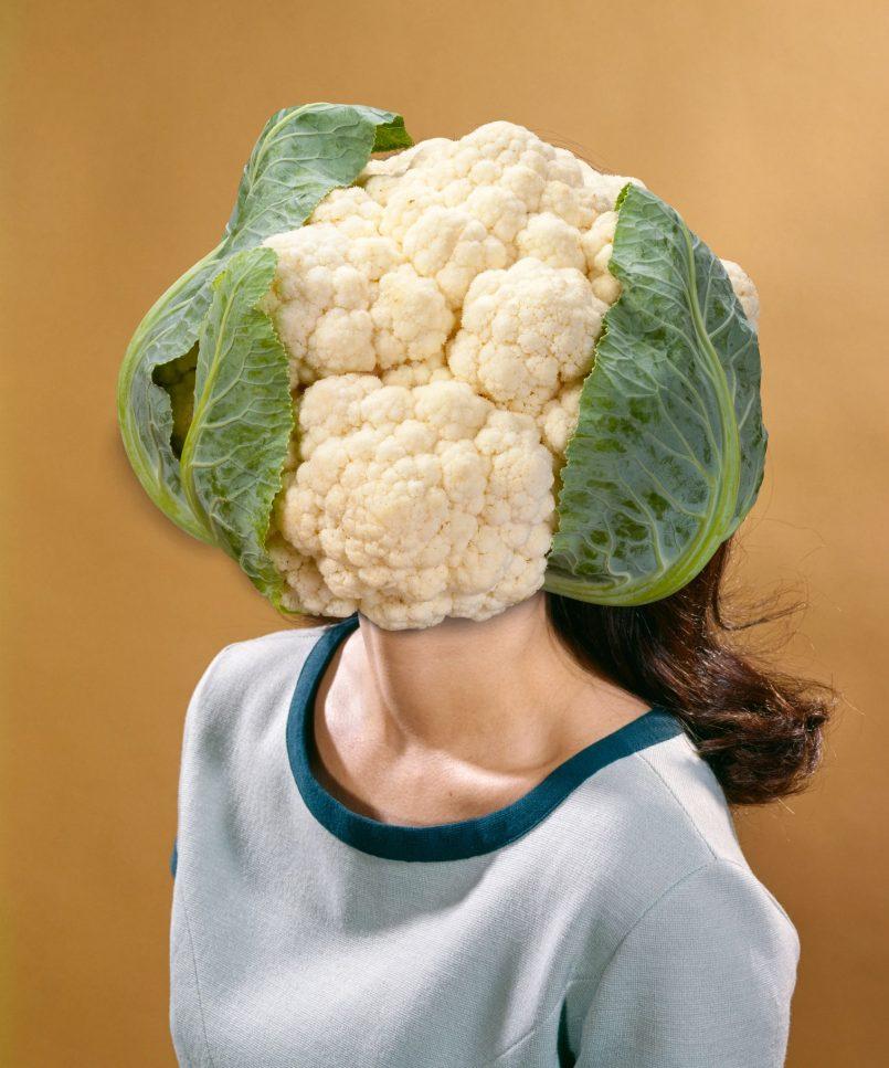 photo collage portrait cauliflower by lexicon love