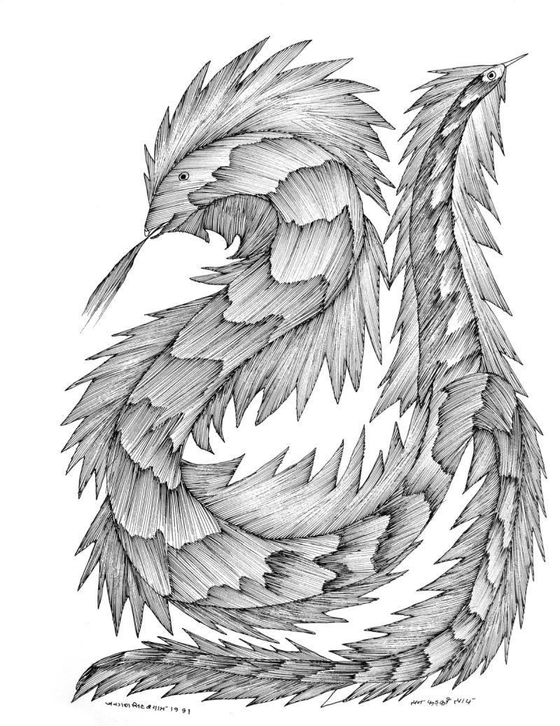 snake gond art work