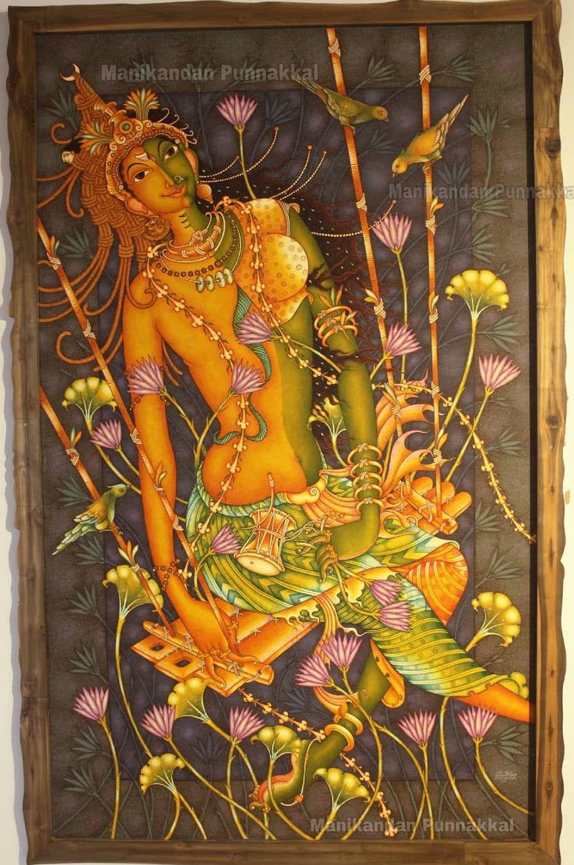kerala painting god by manikandan punnakkal