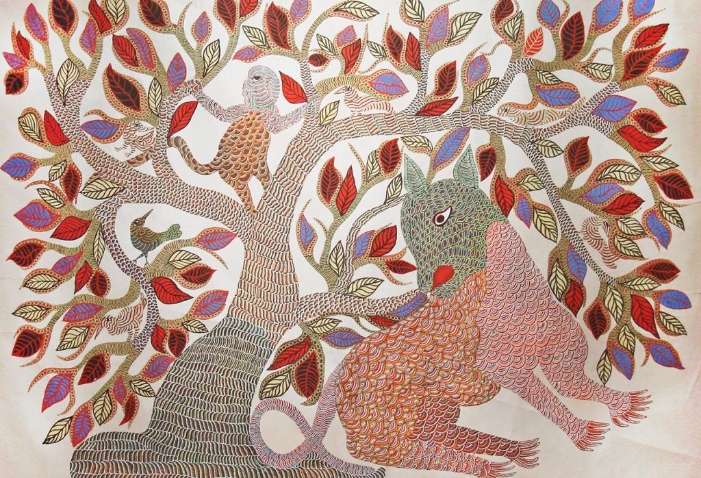 indian tribe art gond painting
