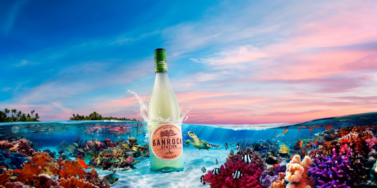 advertising photo manipulation idea sea bottle