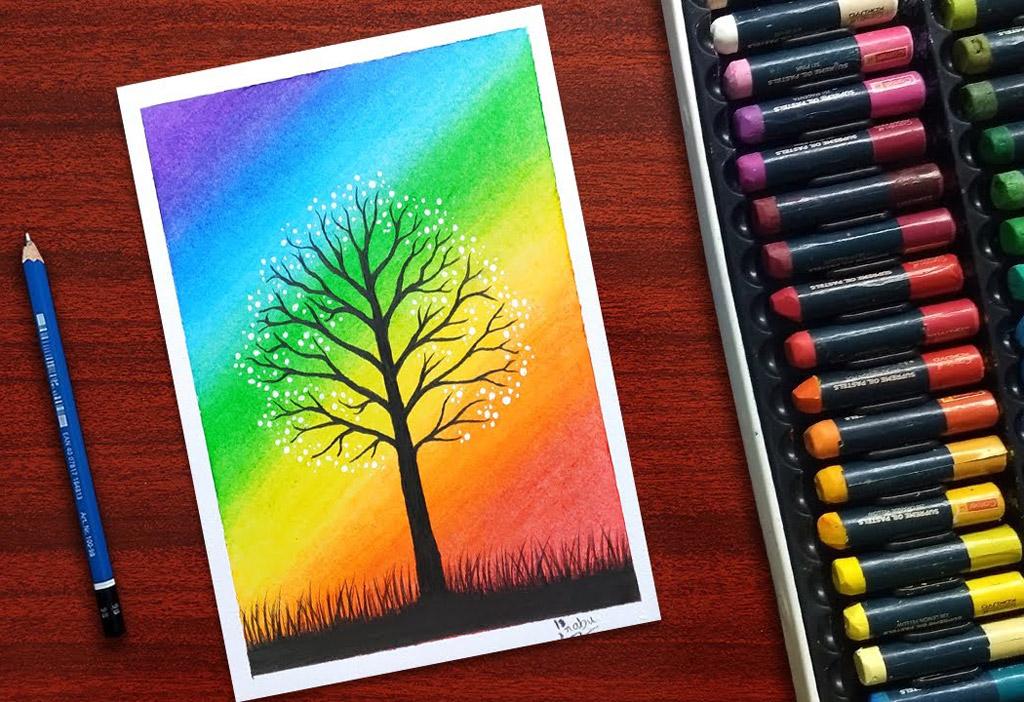 pastel drawing scenery by prabudbz