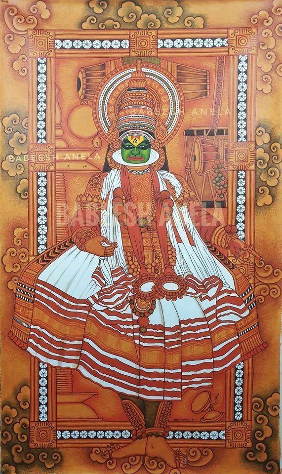 kerala painting kathakali by babeesh anela