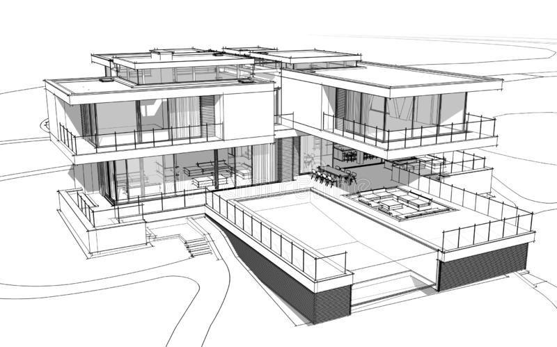 architectural drawing house exterior design