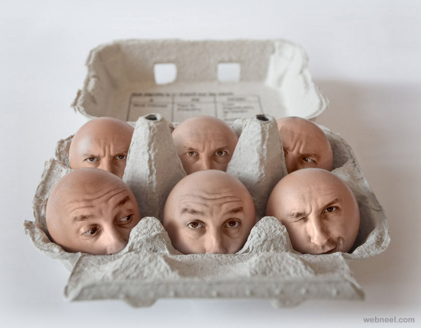 egg face photo manipulation by pierre beteille