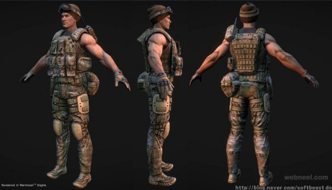 3d game character by jaegil lim