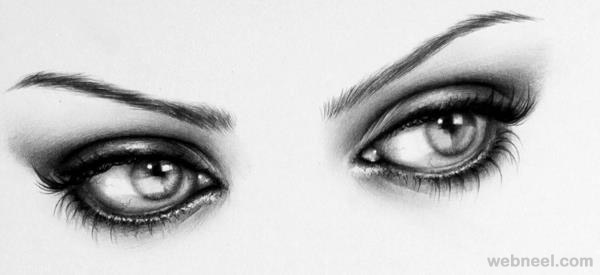 realistic eyes pencil drawing by ileana hunter
