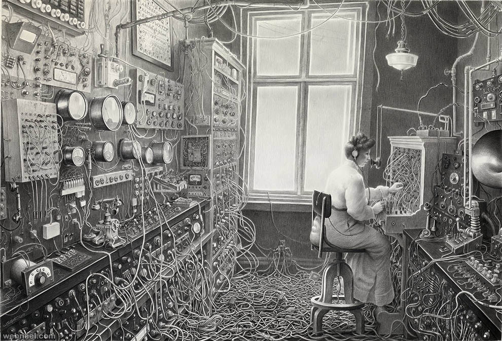 surreal drawing by laurie lipton