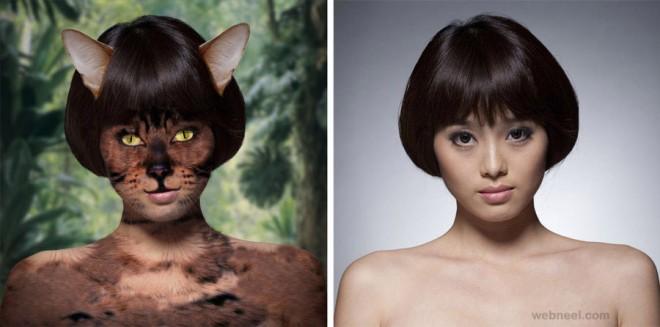 woman photo manipulation