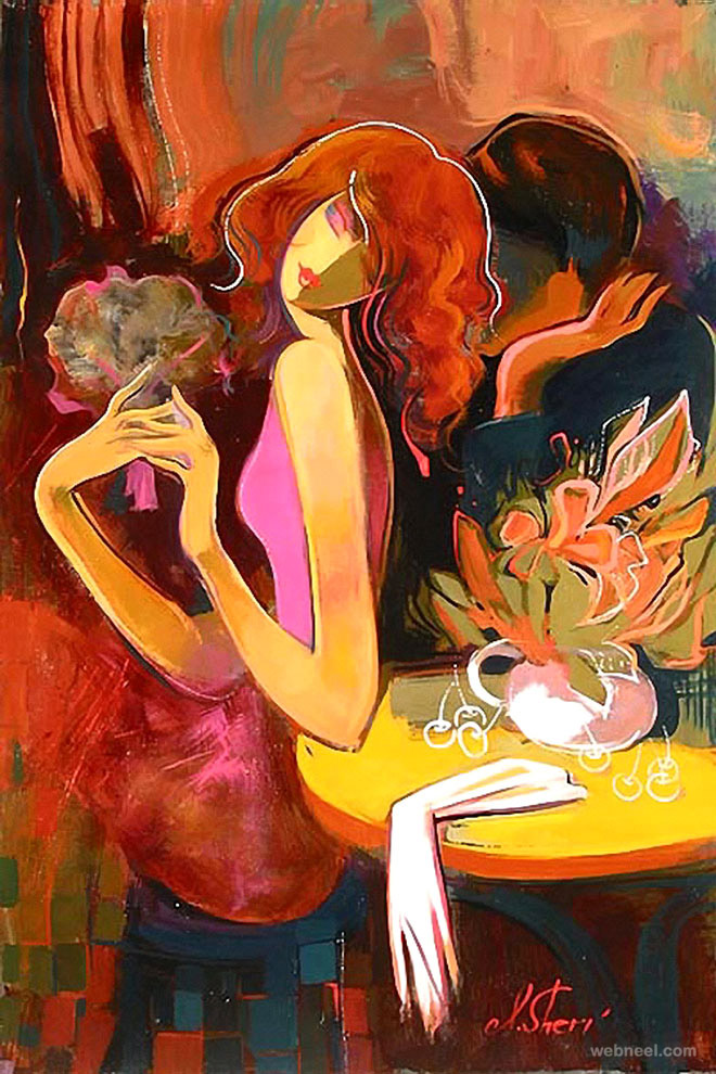 colorful painting by irene sheri