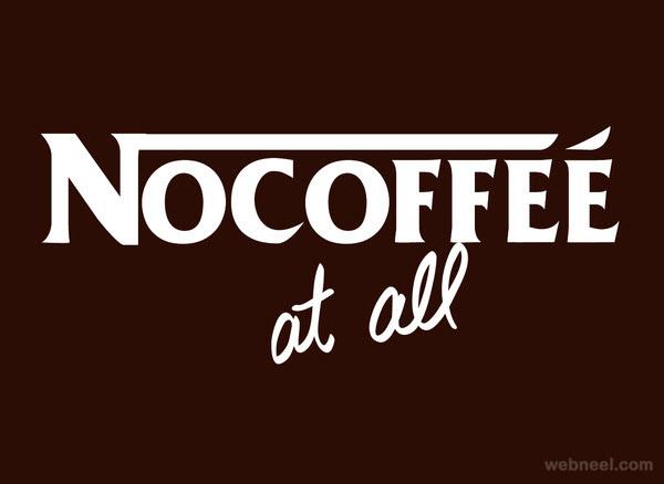nescafe nocoffee logo parody