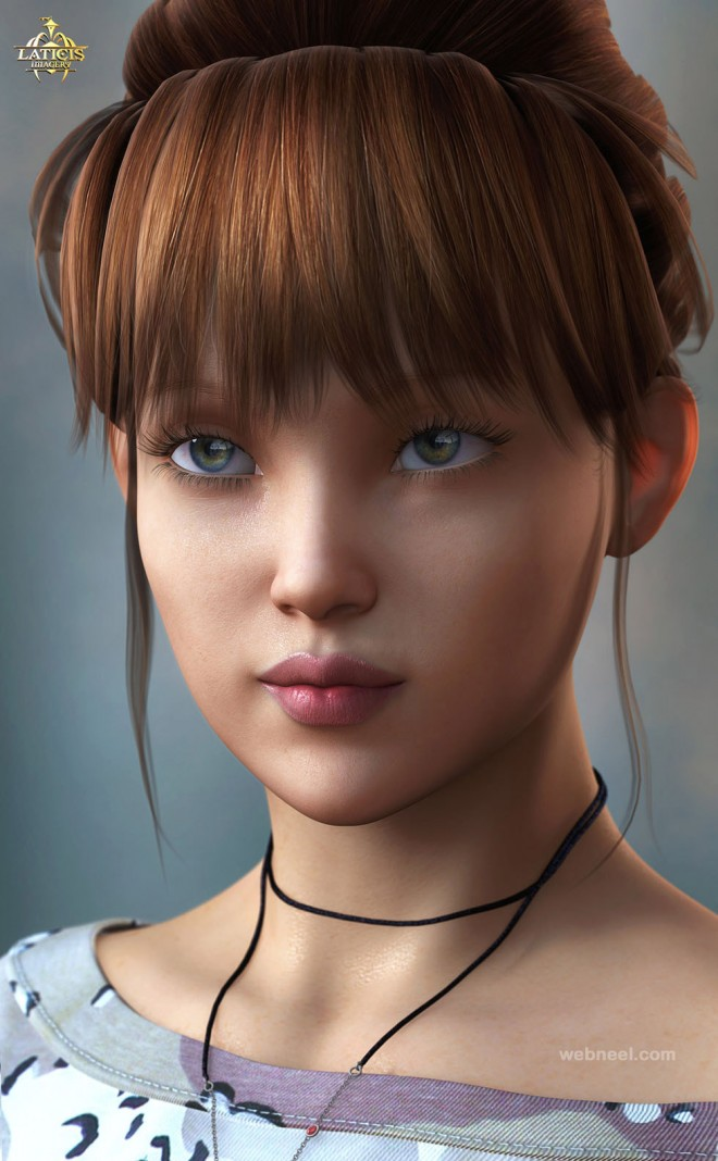 3d models girl woman