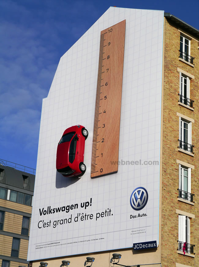 creative ads volkswagen car