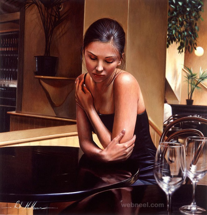 hyper realistic oil painting by rob
