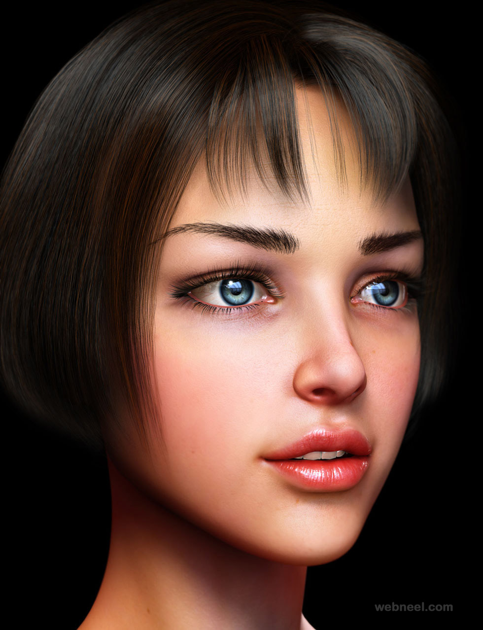 maya 3d girl model