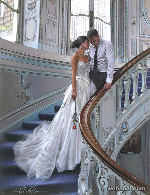 oil painting wedding
