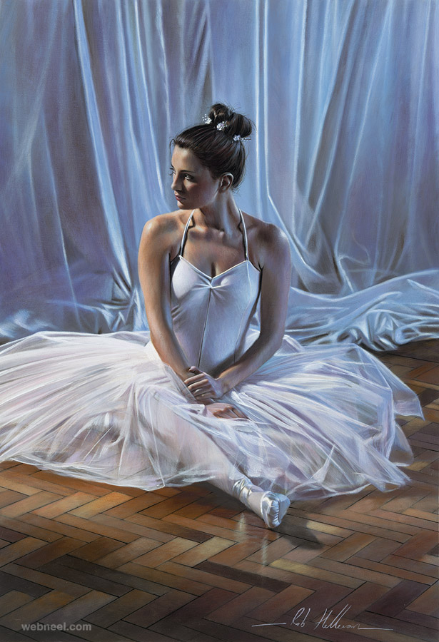 oil painting dancer