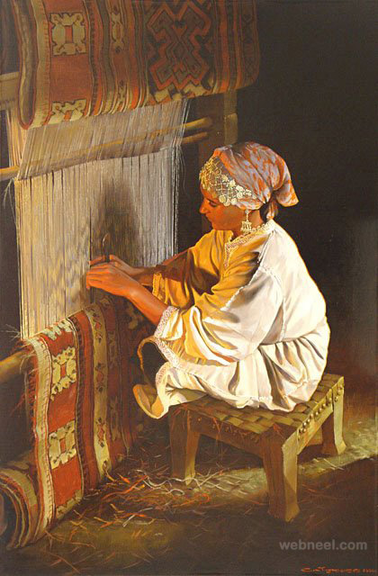 oil painting indian