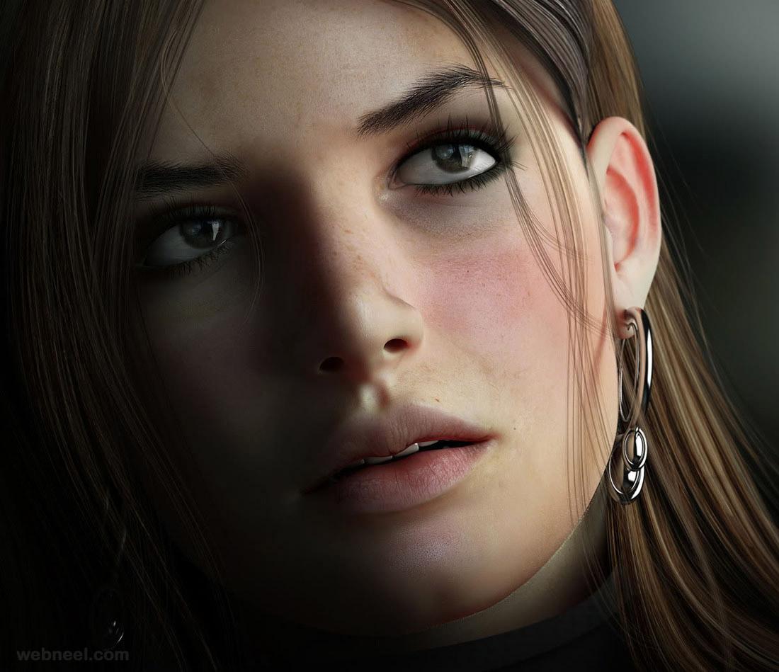 3d model woman