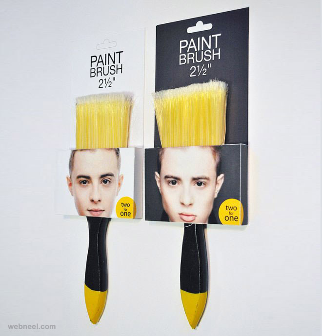 creative packaging design brush