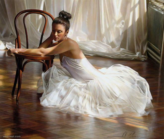 realistic oil painting by rob hefferan