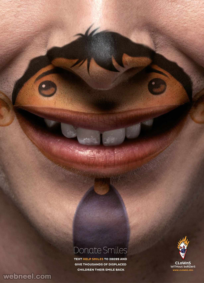smile clown ad creative advertising