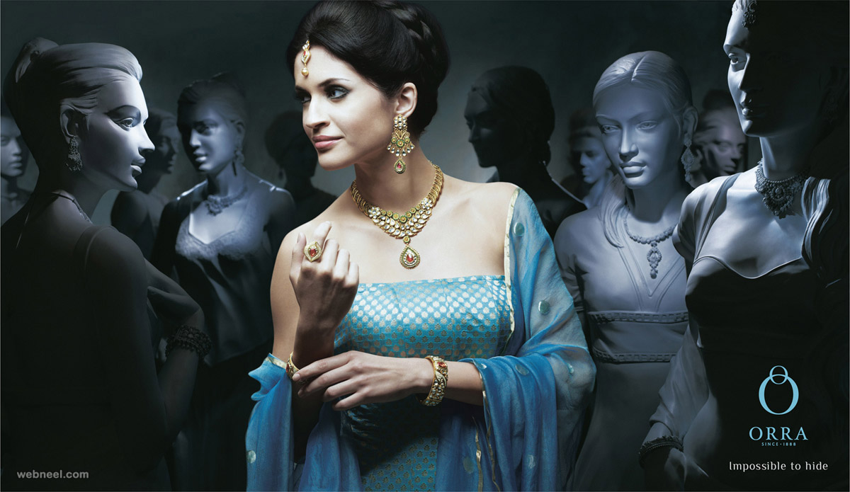 gold jewellery advertisement