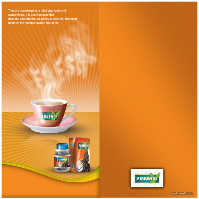 brochure design tea