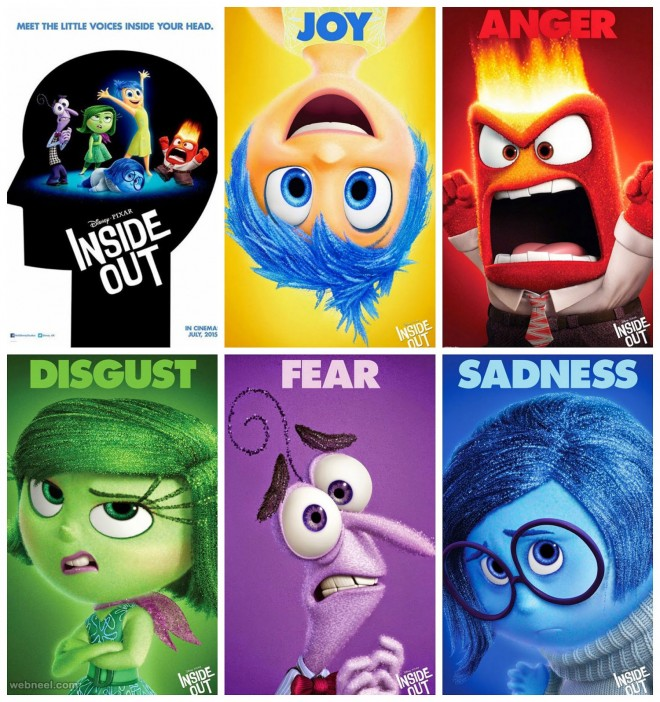 inside out animation movie poster